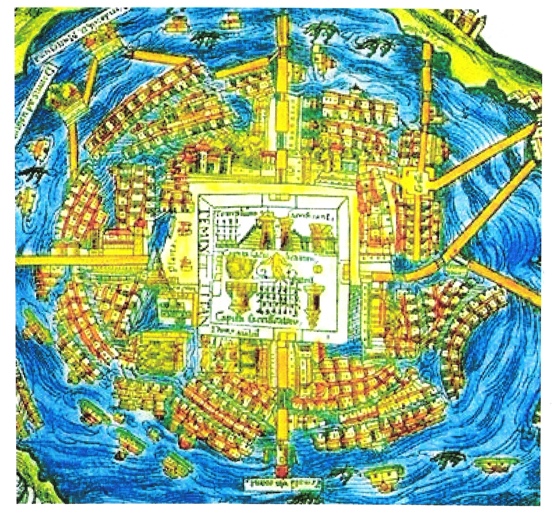 Mexico City in 1519CE